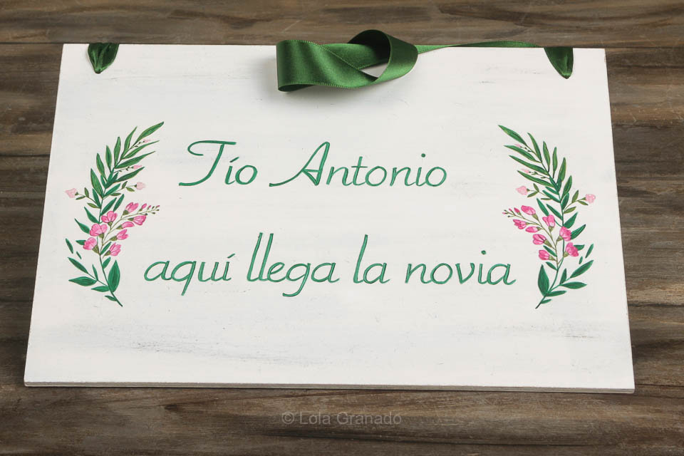 Cartel boda rectangular