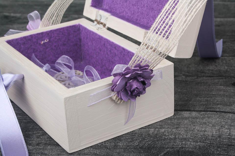 Caja arca anillos boda Rosa y Rafa