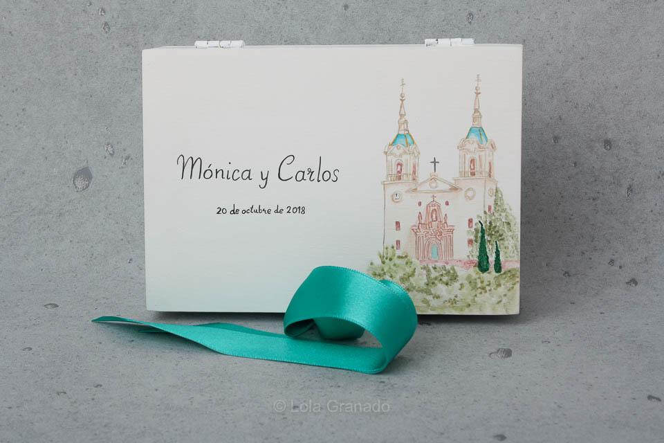 Caja arras boda Mónica y Carlos