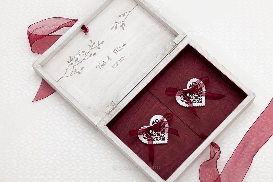 Caja anillos Toni y Nuria